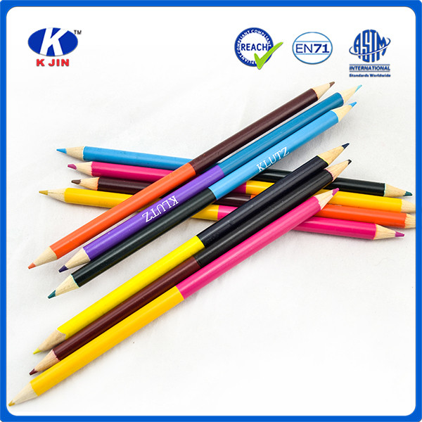 double side colors doulbe sharpened high lead color pencils