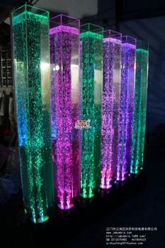 Square Acrylic Water Column,,Single Tube Bubble Water Column,Acrylic Water  Column Lamp
