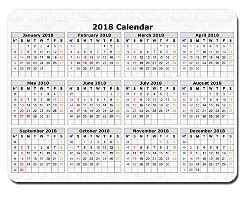 "2018 Calendar Anti-Slip Personalized Rectangle gaming Mouse Pads Size:9.4"" x7.9"" RB153"