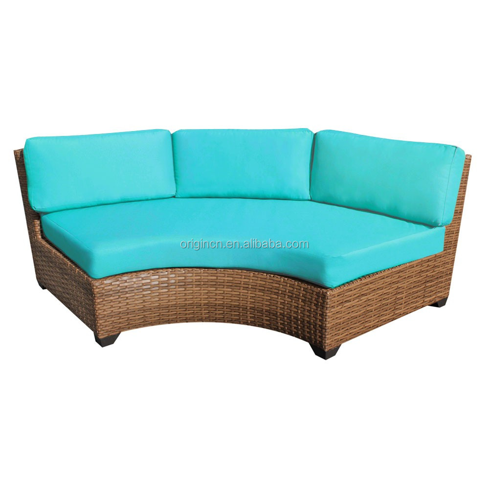 Sofa runde form  14 Seaters Circular Full Round Patio Furniture With Drink Table ...