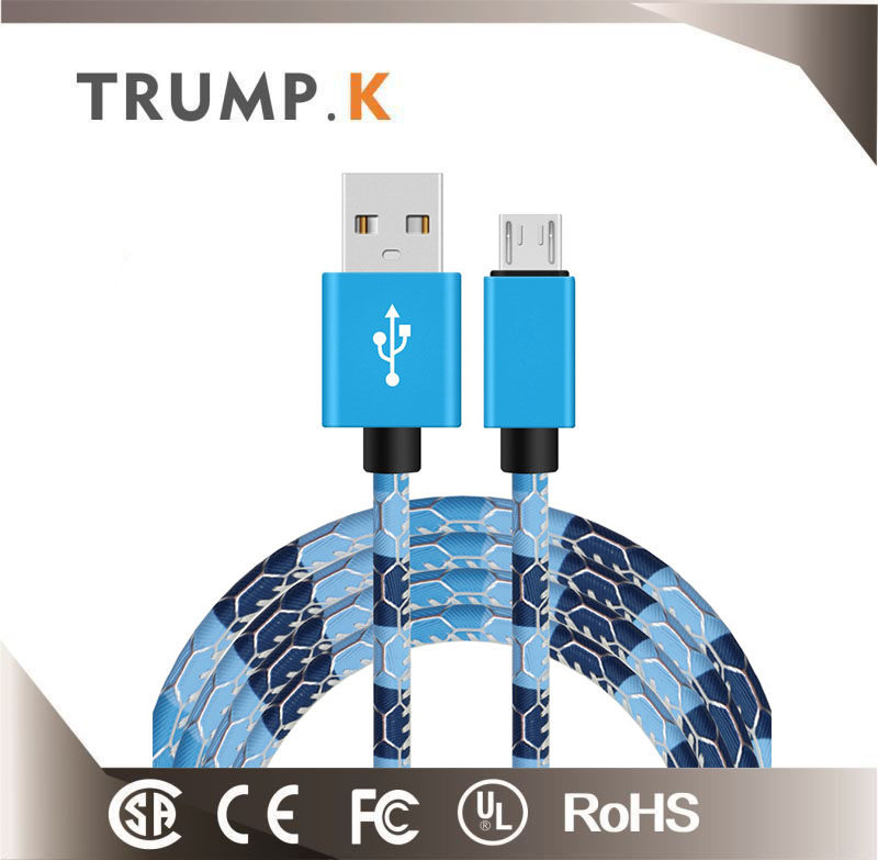 2017 hot style gold plated usb cable Customized
