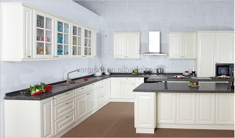 Poppenhuis meubels witte houten keuken wandkast beeldscherm keuken ...