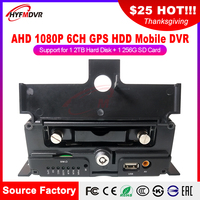 GPS 6CH mdvr SD cards on-board video recorders AHD720P monitor host passenger / truck / ship