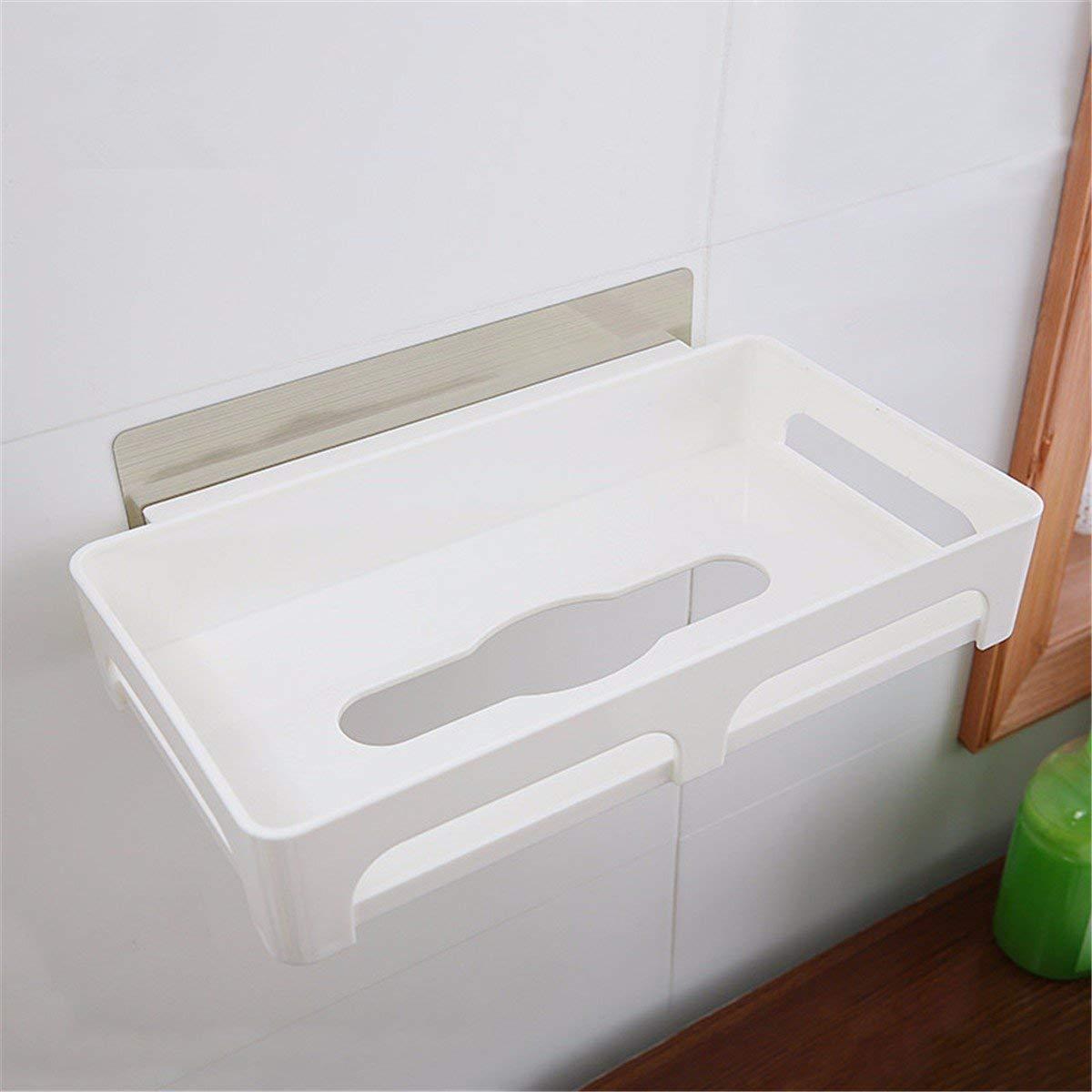 ZHAS Suction unit paper towel rack kitchen paper towel rack plastic paper towels in the cassette holder kitchen towel cartridge Toilet Paper Holders
