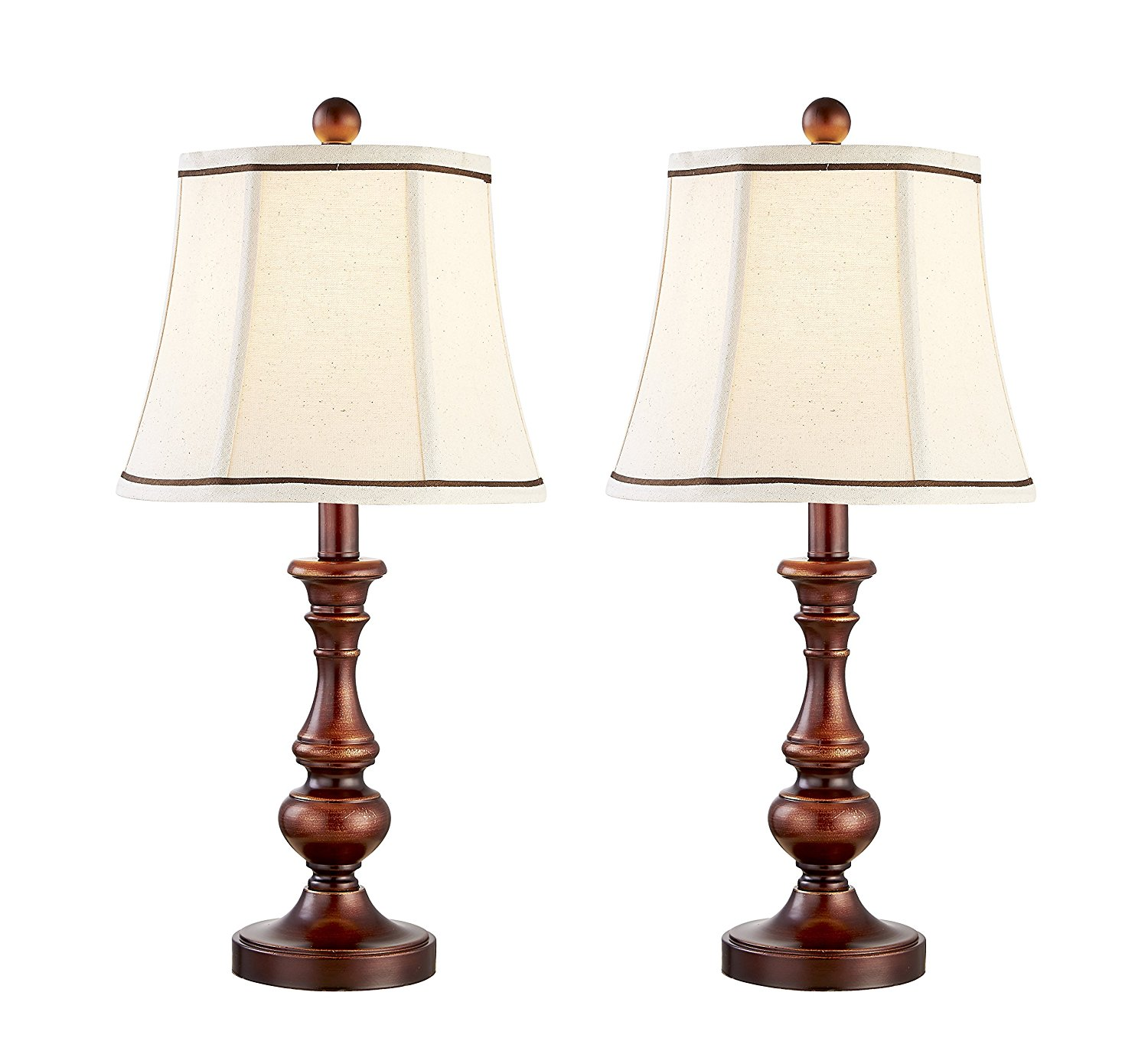 Get Quotations Table Lamps Dili Home Desk Decorative Lamp Vintage Style Set Of Two Bedroom Lights