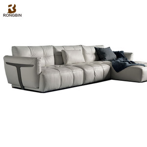 Foshan luxury sectional leather sofa manufacturer elegant high end italy  living room leather sofa