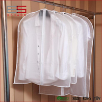 Travel Hanging Fabric Transparent Foldable Garment Bag For Garment