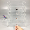 custiomzed design clear countertop acrylic cosmetic & makeup organizer drawer