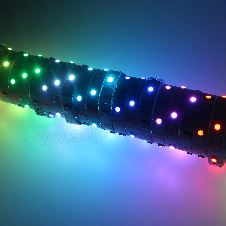 Individully control micro led pixel tape color changing outdoor lights low voltage flexible heat strip 12v sk6812 rgbw led strip