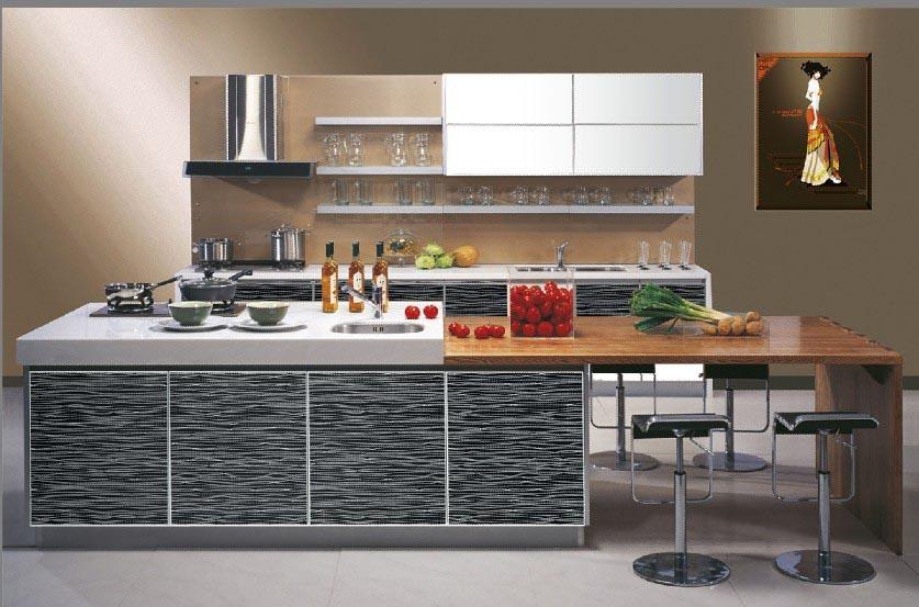 Mdf Moderna Cocina De Acrílico Diseño Backsplash De La Cocina ...