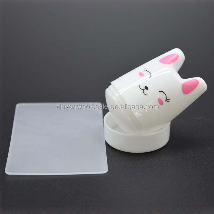 Cute Rabbit Nail Art Stamper 3.8cm Silicone Head Nail Scrapers ...