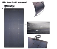 New Material ETFE Laminated 100W 18V Sunpower Cell Semi Flexible Solar Panel Price for Battery Charging From China