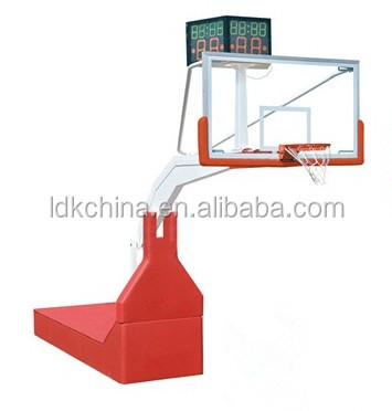 Baketball backstop basketball hoop stand with 24 second shot clock