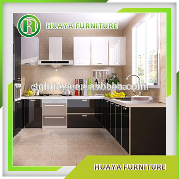 Modern Style High Glossy Lacquer Glass Door Kitchen Cabinet Made In ...