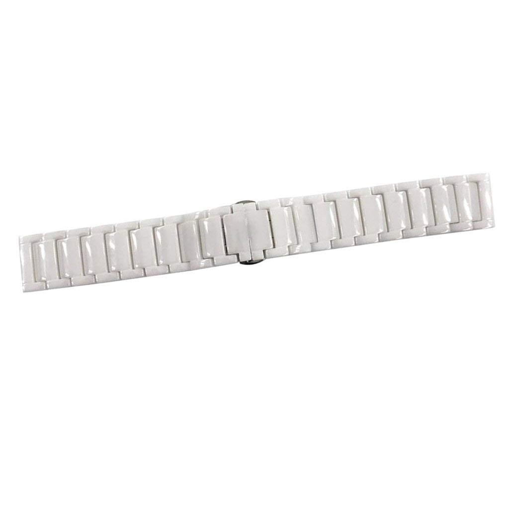 Flameer For Gear S3 Band 22mm Ceramics Stainless Steel Metal Link Bracelet for Samsung Gear S3 Frontier/Classic Smart Watch, Moto 2nd Gen 46mm