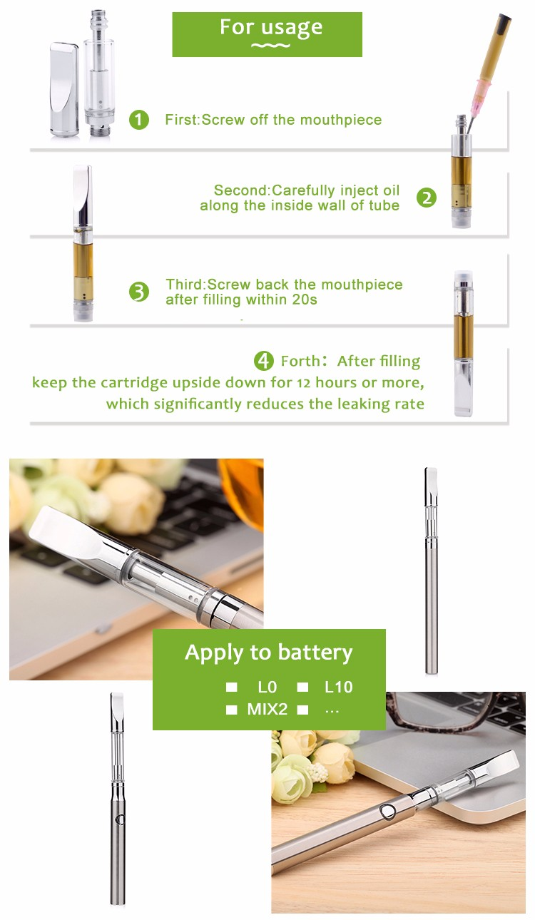 2017 Best Glass Cartridge 510 Tank cartridge Thc Co2 Thick Cbd Oil cartridge Atomizer