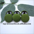 manufacturer combined fabric covered snap button with four parts