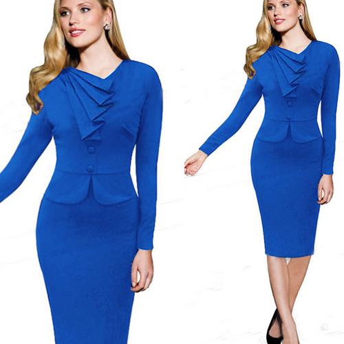Robe Fantaisie Droite De Pour Hiver Formelle Gros Mode Buy Bureau Vintage Femme Mince robe Style Femme OikTZXPu