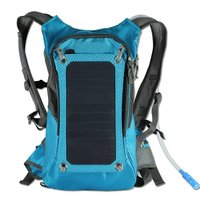 Sunpower Cycling Solar Power Panel Charger Solar Bag With Hydration Water Pack Bladder