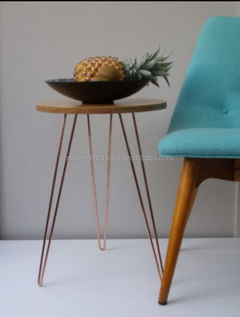 Copper Plating Or Rose Gold Hairpin Table Legs