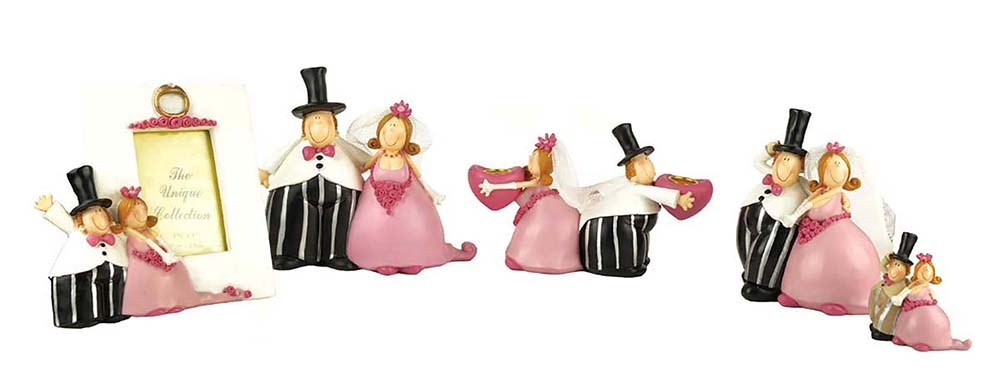 polyresin wedding gifts of bride and groom