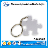 custom game theme jigsaw keyring personalized puzzle keychain