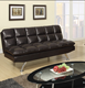 Black couch leather sofa, futon sofa bed adjustable