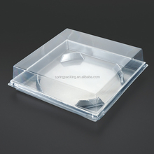 PET PVC PP PS silver gold white black clamshell blister slide plastic blister food packaging box and tray