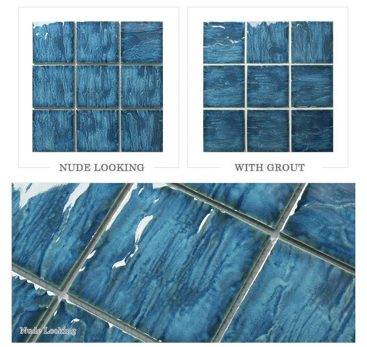 4 X4 Wave Blue Gray Porcelain Swimming Pool Tiles For Sale Buy Swimming Pool Tiles For Sale