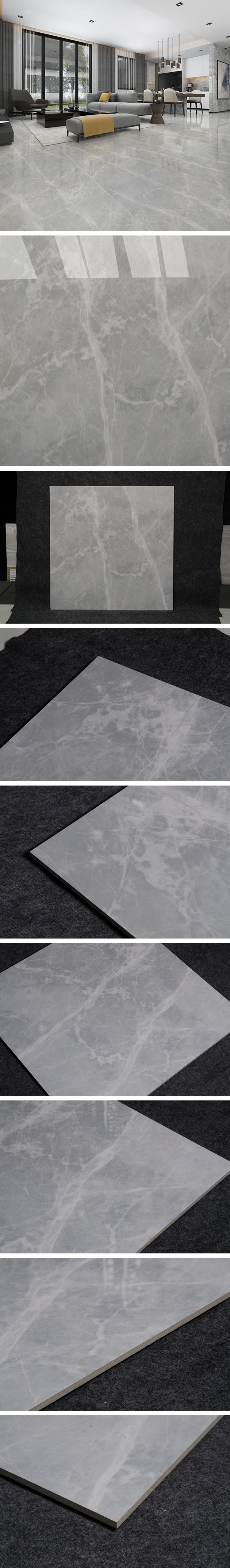 Piso de cerâmica 450x450 telha de pedra cinza piso de mármore italiano