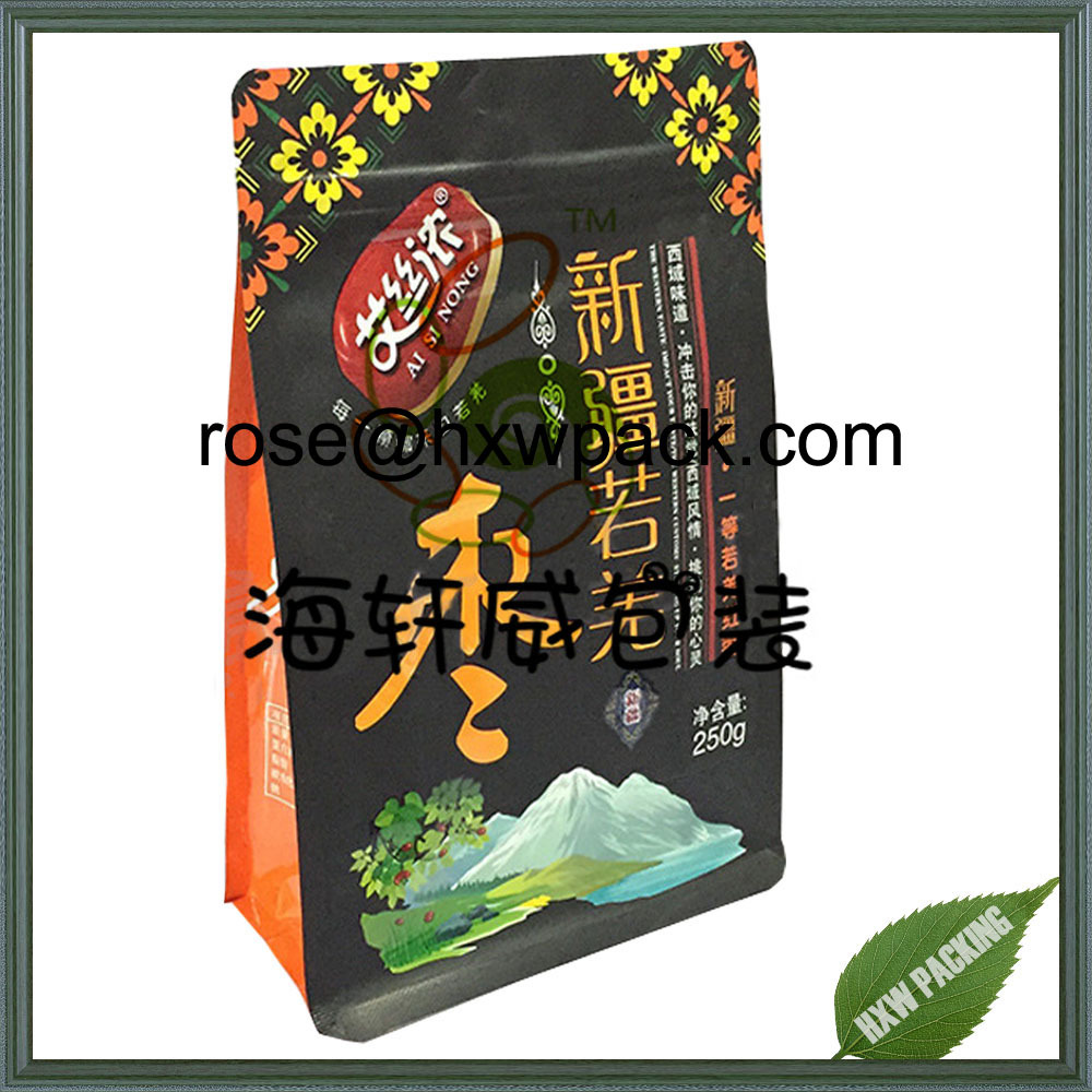 Moisture proof food packing ziplock sachet for flower tea packaging