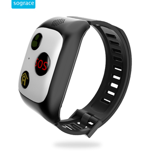 Health monitoring smart watch gps tracking with SOS fitness tracking heart rate for elderly