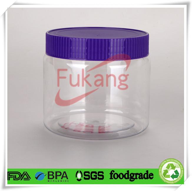 16 Oz Plastic Pet Cookies Container Jar Wholesale Clear