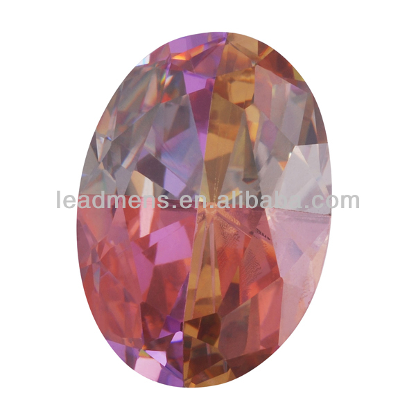 multicolored oval cut precious stones cubic zirconia gemstone CZ synthetic stone gems beads for jewelry making