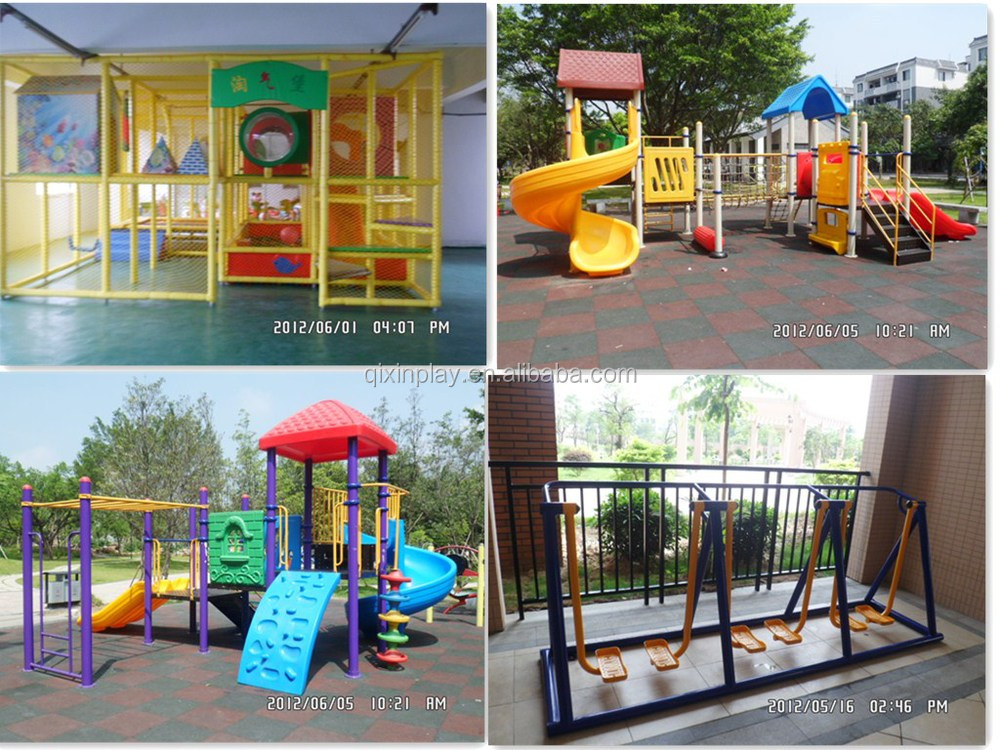 Preschool Furniture Kid Wooden Outdoor Playground Equipment For Toddler Qx 077a