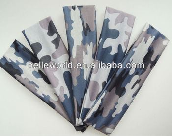 camo bulk sport headband for sport hair accessory
