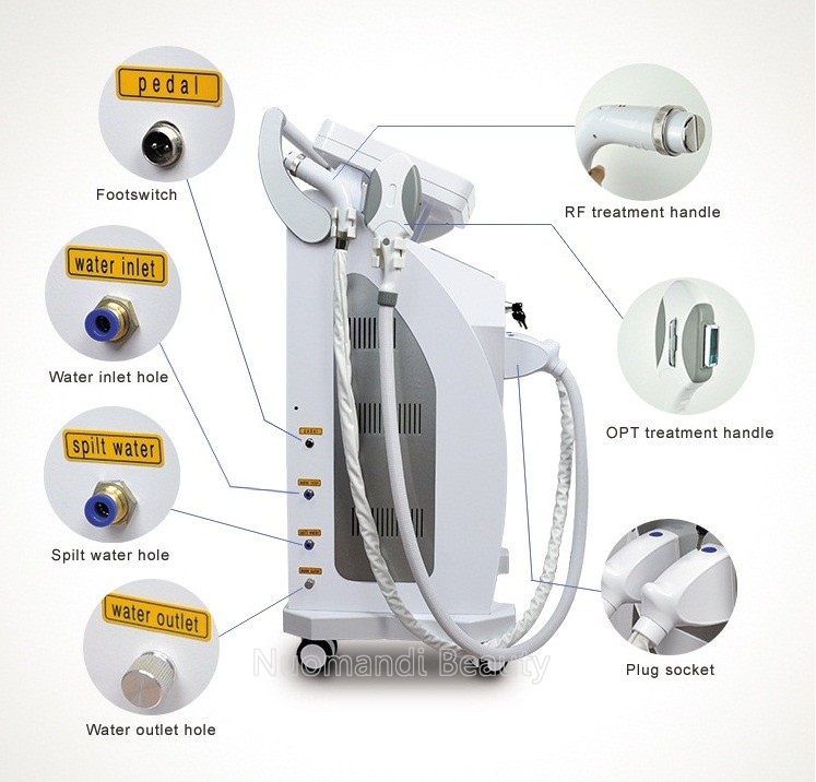 2000W opt shr hair remove machine/opt shr ipl rf nd yag laser 4 in 1 machine