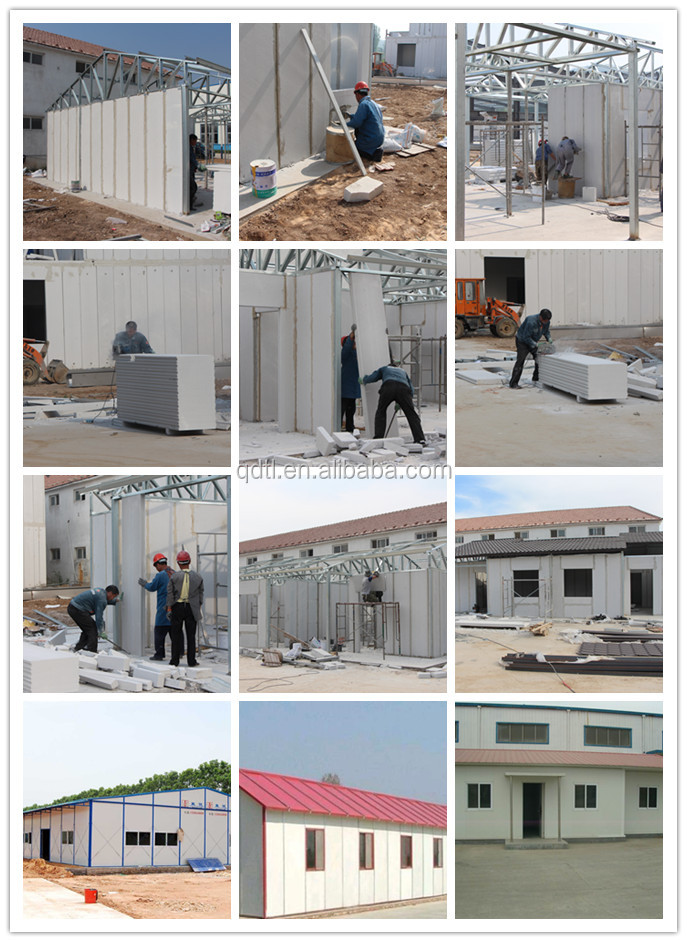 Beautiful comfortable prefabricated steel metal frame villa