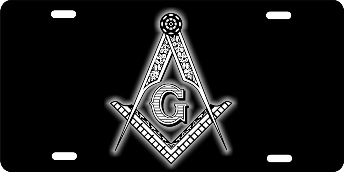Anwei Masonic Mason Custom Novelty Front License Plate for Car Custom Decorative Car Tag 11.8 x 6.1 inch