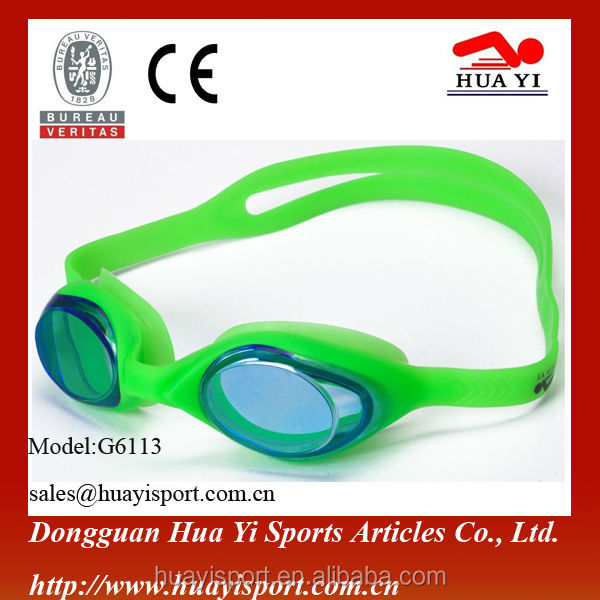 Kid long-lasting anti fog durable swim goggle with attractive color to select