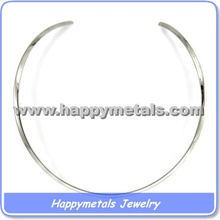 Steel wire choker necklace(N5691)
