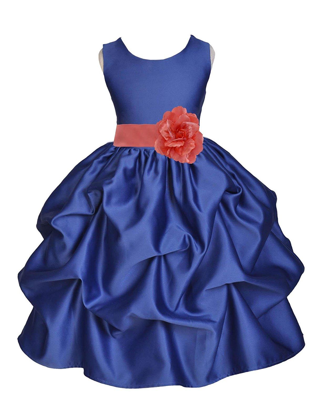 885332076ad Get Quotations · ekidsbridal Satin Bubble Navy Blue Flower Girl Dresses  Pageant Dresses Birthday Girl Dress Toddler Dresses 208T
