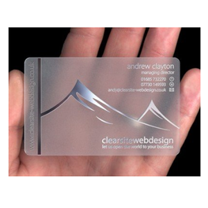 Customized Printed Pvc Transparent Business Cards Name Card