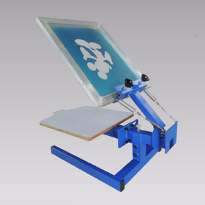 Single Color 1 Station Silk Screening Screenprint Press Screen Printing Machine