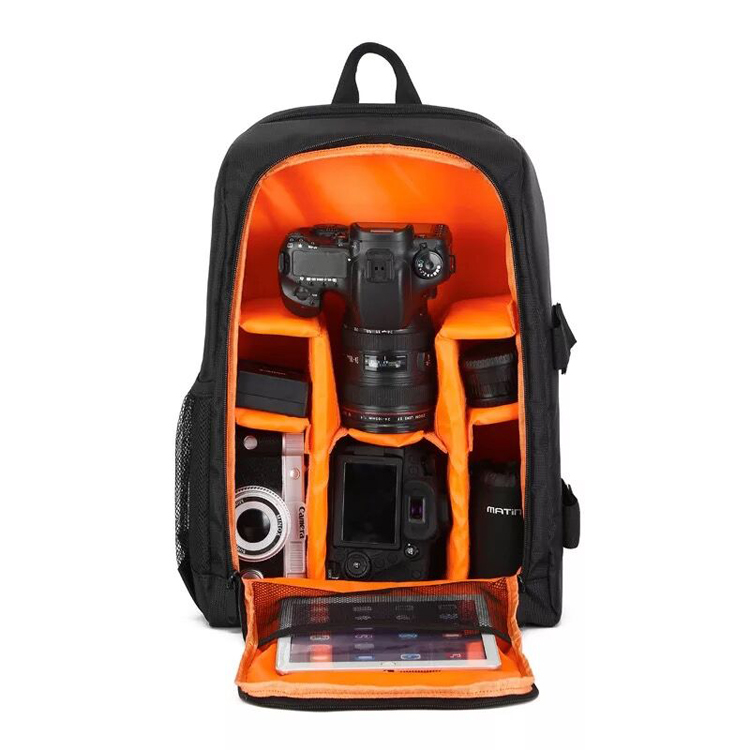 Fashion Anti-water Anti-shock nylon backpack for hidden camera len Digital DSLR camera bag
