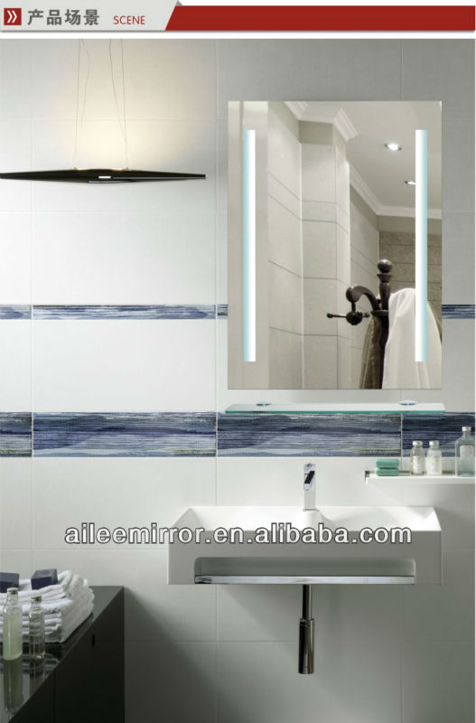 Contemporary style led silver bathroom unique mirror light