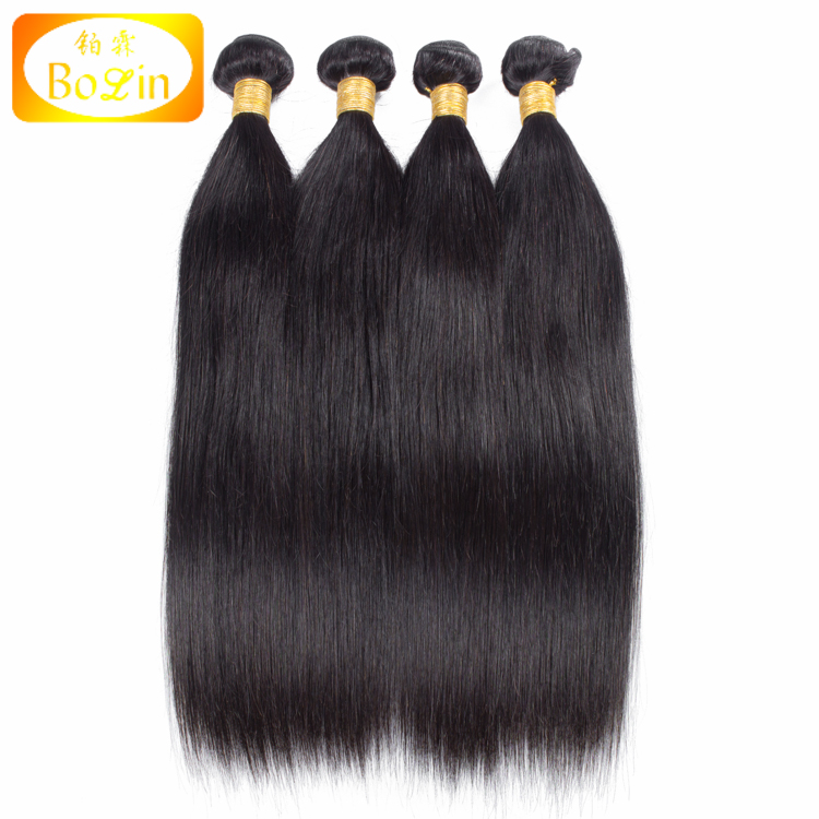 unprocessed 7a quality 100 human hair extension 4pcs lot cheap virgin brazilian straight human hair extension