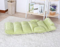 Hi-Pile Material Comfortable Folding Legless Single Sofa Chair
