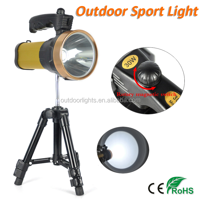 High Power Portable Rechargeable LED Searchlight