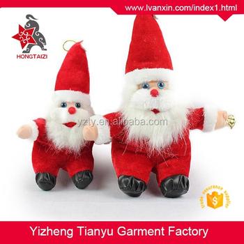 Cute Christmas Plush Toys Big Eyes Santa Claus Stuffed Toys Lovely
